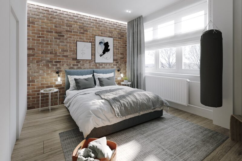 ložnice / panelový byt / 2018